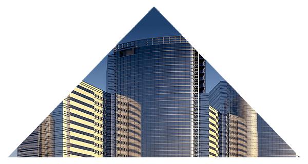 photographie montage triangle gratte-ciel