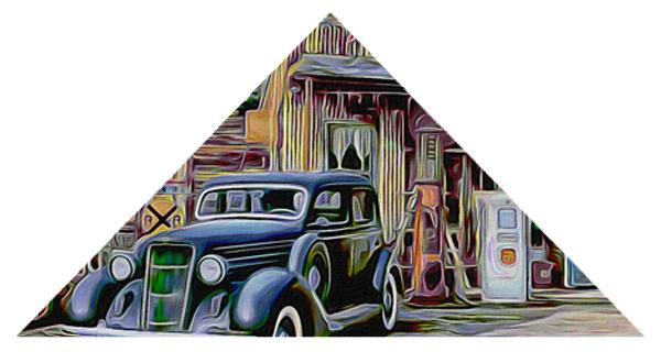 photographie montage triangle peinture